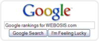 See the Google rankings for WEBOSIS.com